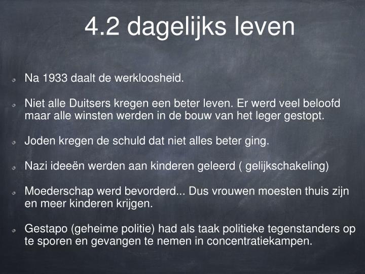 4.2 dagelijks leven