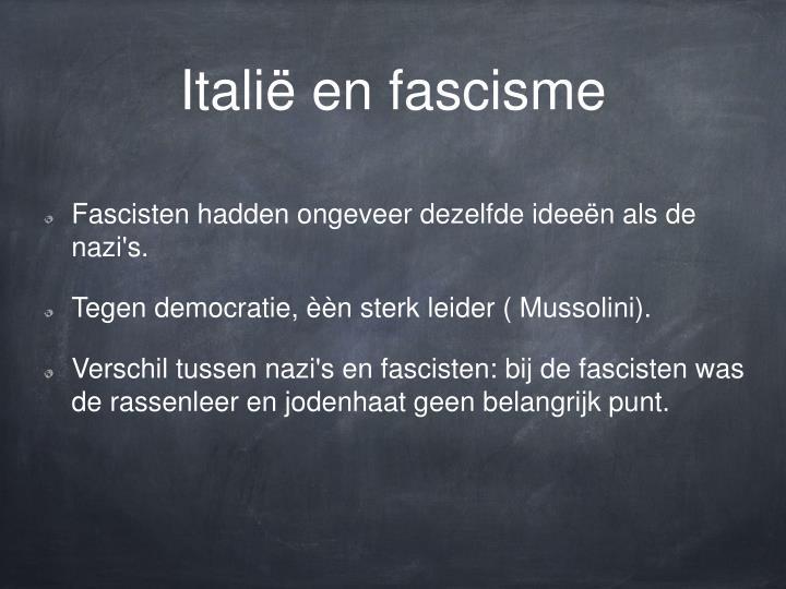 Italië en fascisme