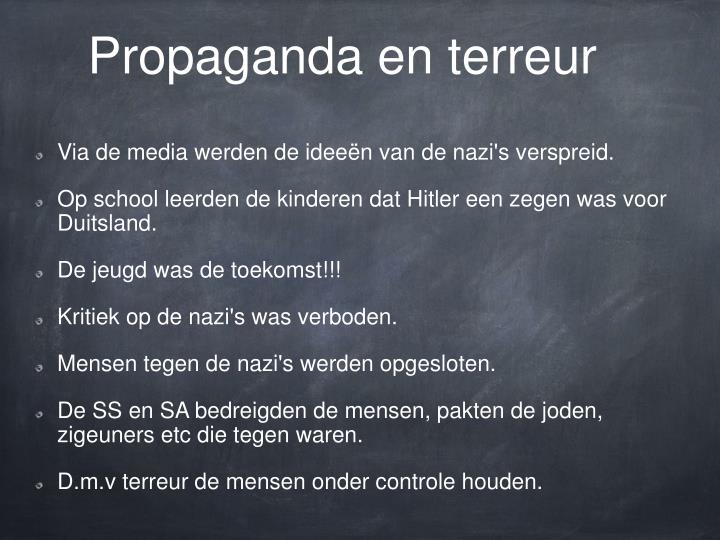 Propaganda en terreur