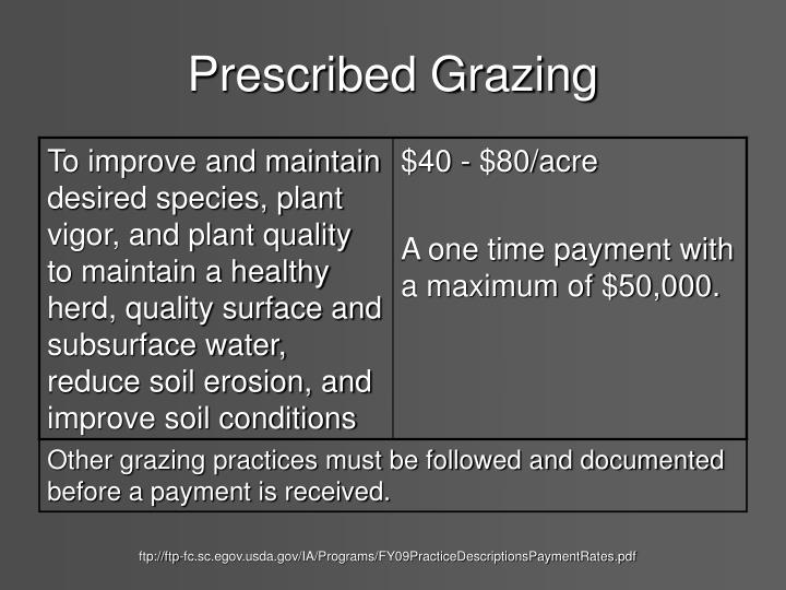 Prescribed Grazing