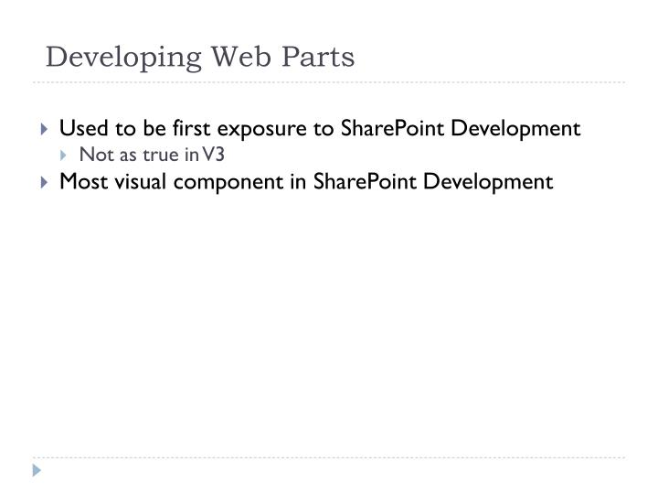 Developing Web Parts