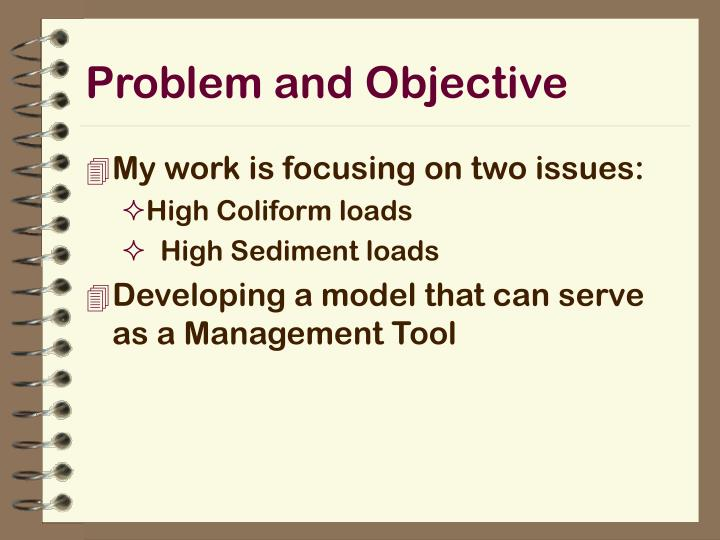 Problem and Objective