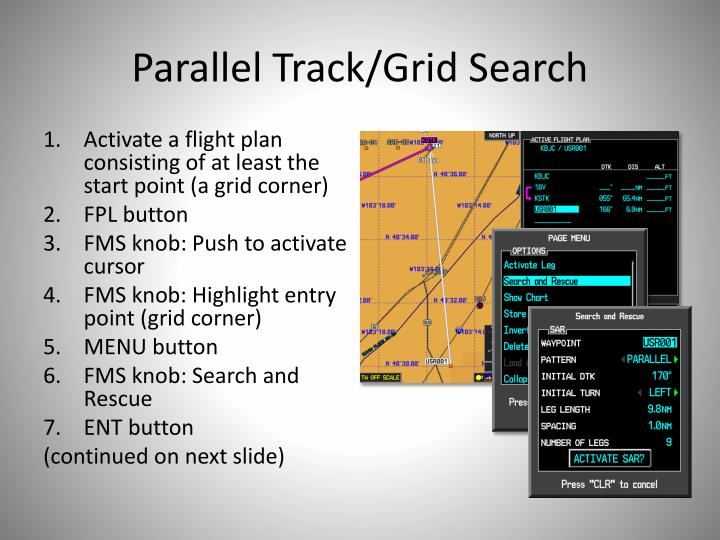 Parallel Track/Grid Search