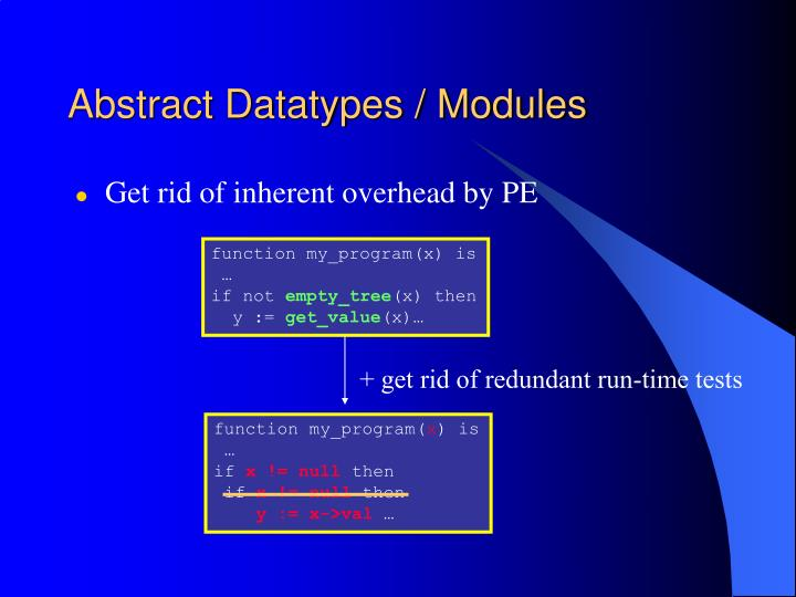 Abstract Datatypes / Modules