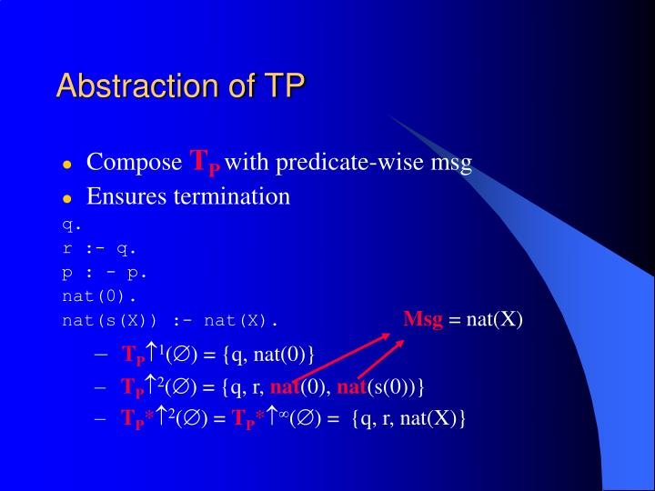 Abstraction of TP