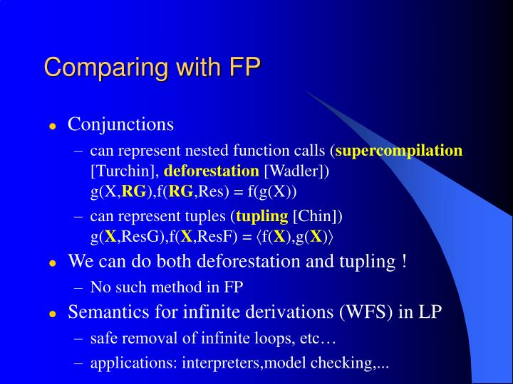 Comparing with FP