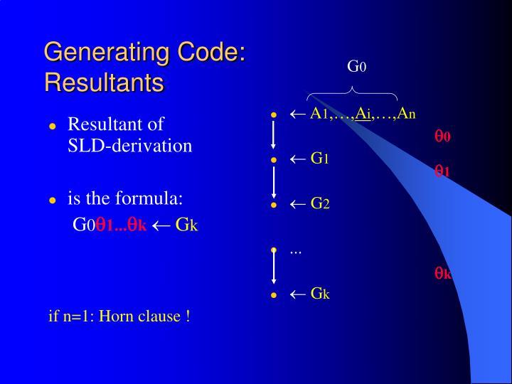 Generating Code: