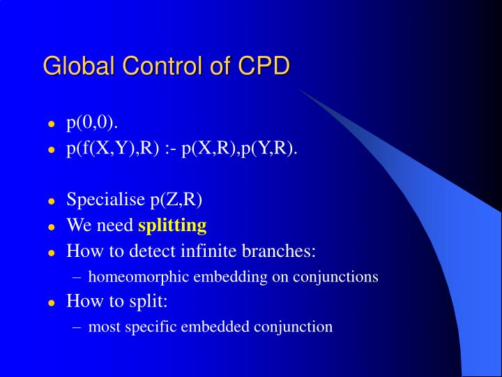 Global Control of CPD