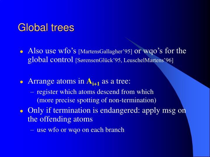 Global trees