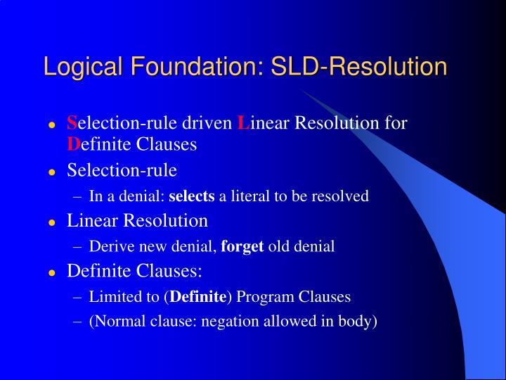Logical Foundation: SLD-Resolution