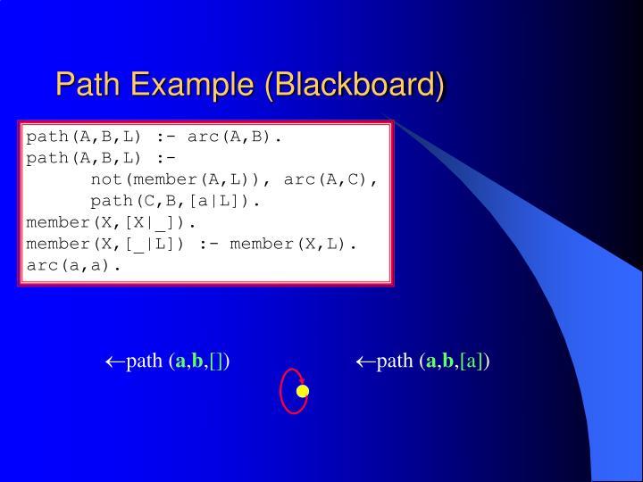 Path Example (Blackboard)