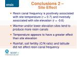 conclusions 2 site effect