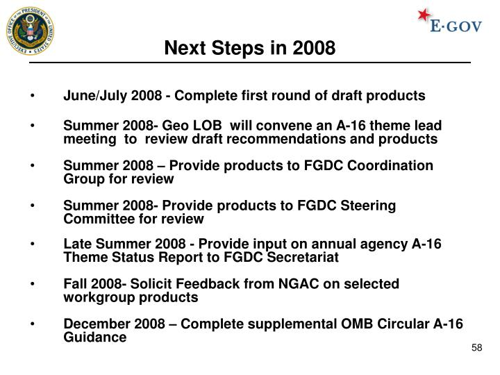 Next Steps in 2008