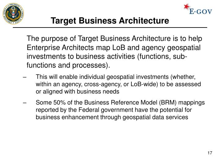 Target Business Architecture