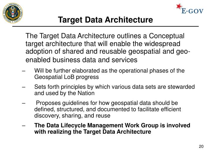 Target Data Architecture