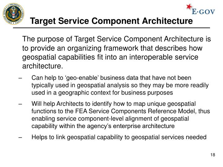 Target Service Component Architecture