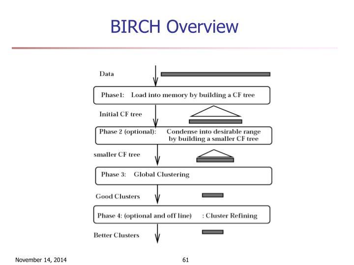 BIRCH Overview