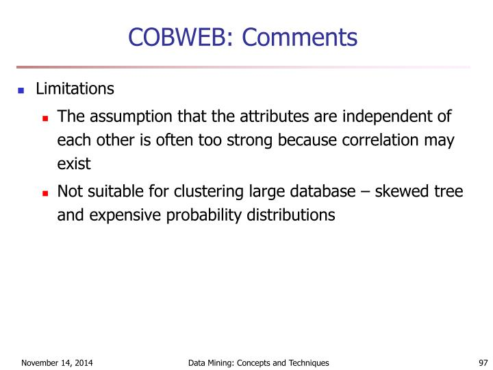 COBWEB: Comments