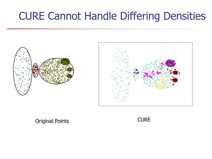 CURE Cannot Handle Differing Densities