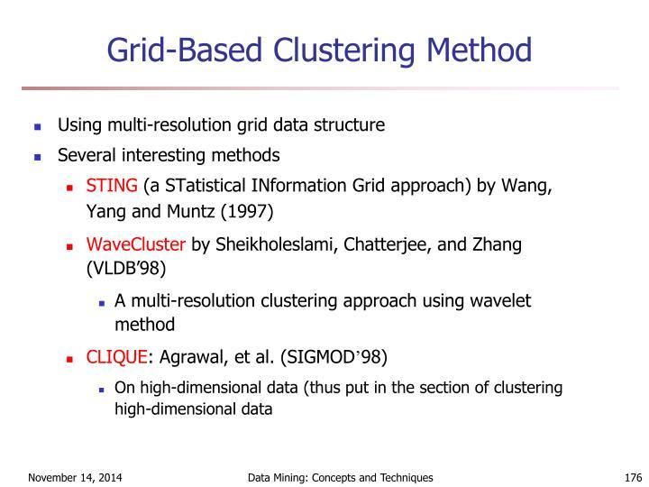 Grid-Based Clustering Method