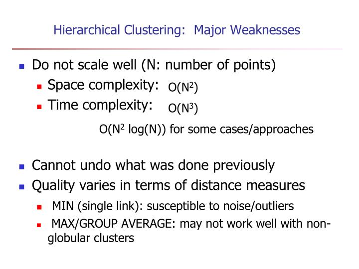 Hierarchical Clustering:  Major Weaknesses