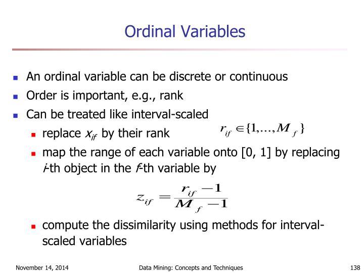 Ordinal Variables