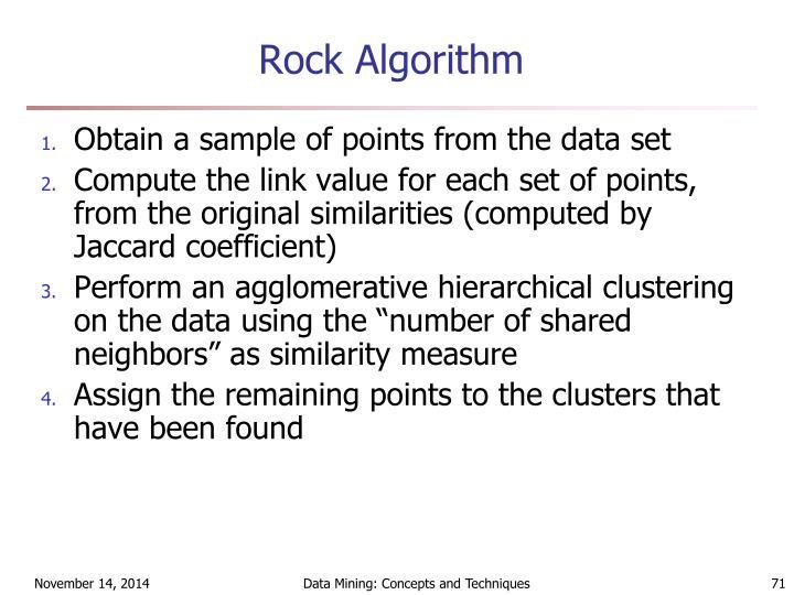 Rock Algorithm