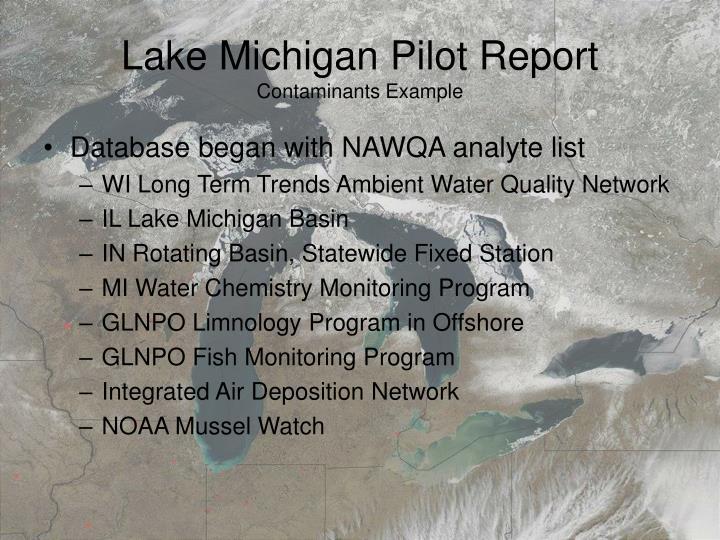 Lake Michigan Pilot Report