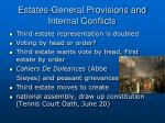 estates general provisions and internal conflicts