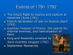 events of 1791 1792