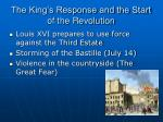 the king s response and the start of the revolution