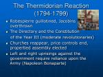 the thermidorian reaction 1794 1799