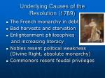 underlying causes of the revolution 1789