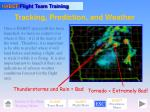 tracking prediction and weather
