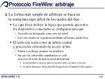 protocolo firewire arbitraje