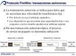 protocolo firewire transacciones as ncronas