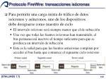 protocolo firewire transacciones is cronas4
