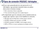 tipos de conexi n rs232c full duplex
