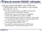 tipos de conexi n rs232c half duplex