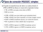 tipos de conexi n rs232c simplex