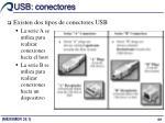 usb conectores