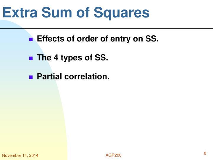 Extra Sum of Squares