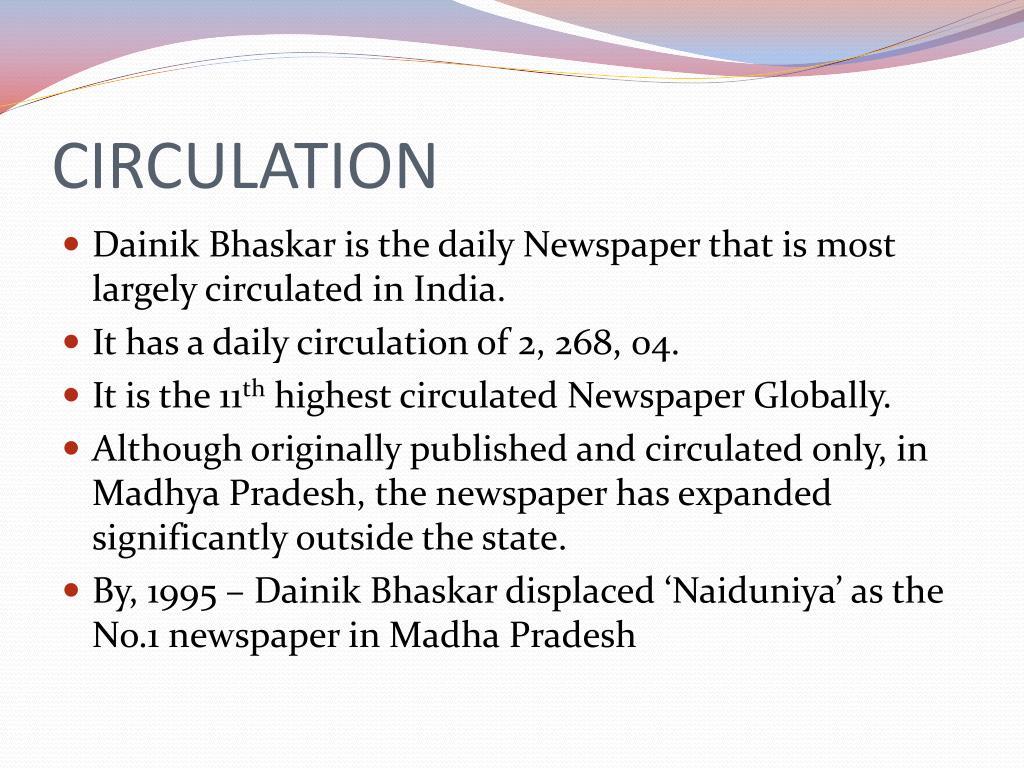 PPT - DAINIK BHASKAR PowerPoint Presentation - ID:6607540