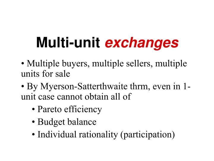 Multi-unit