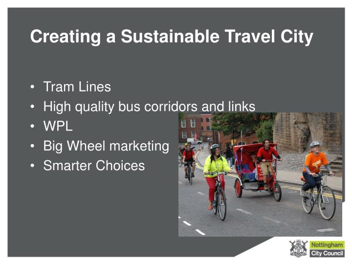Creating a Sustainable Travel City
