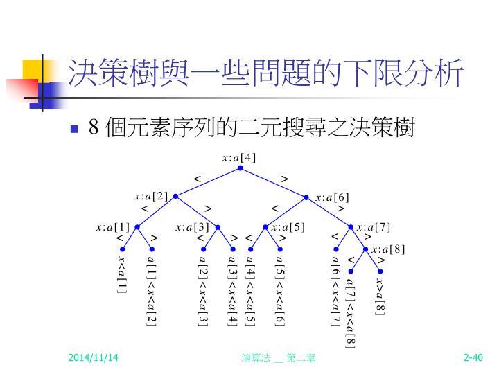 決策樹與一些問題的下限分析