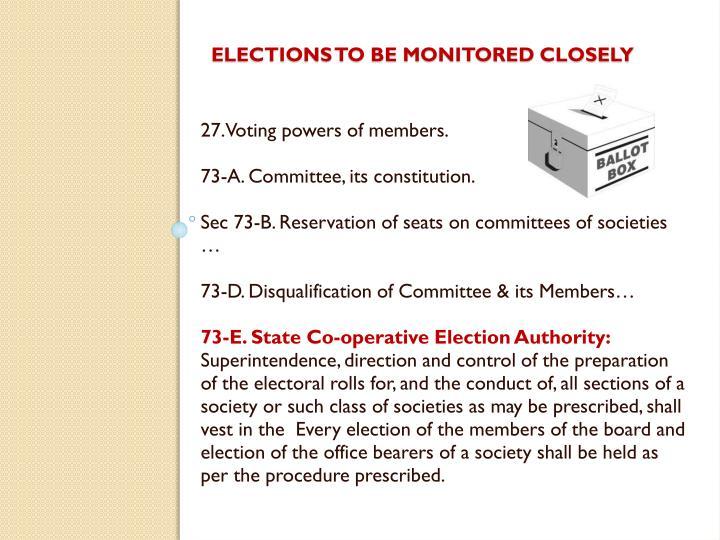 27. Voting powers of members.