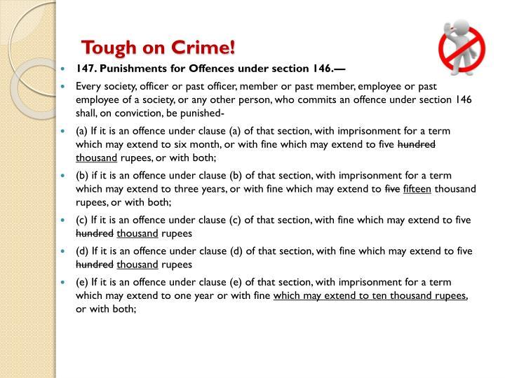 Tough on Crime!