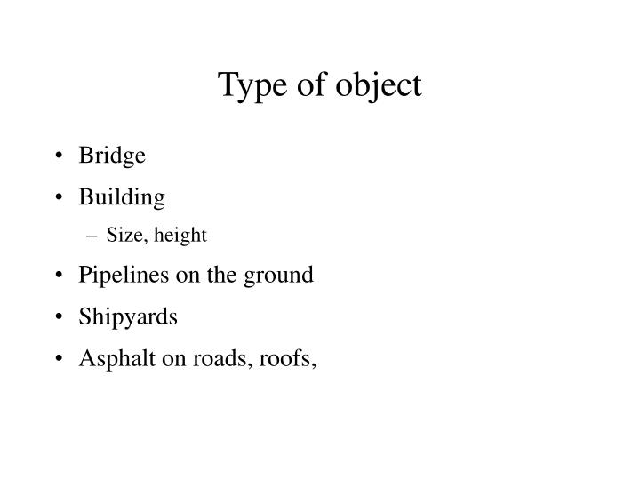 Type of object