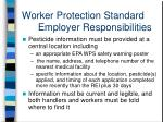 worker protection standard employer responsibilities1